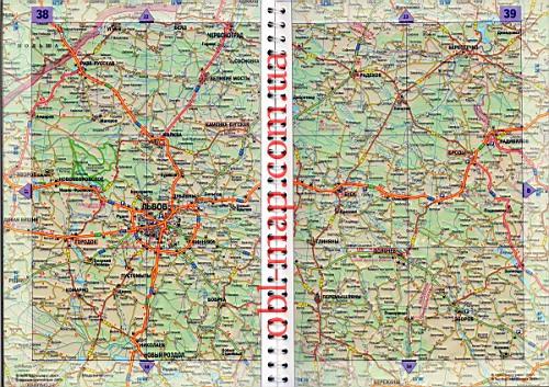 Львовская обл карта дорог.