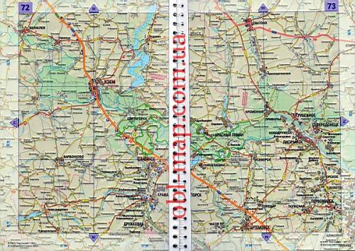 Карта Луганской области.