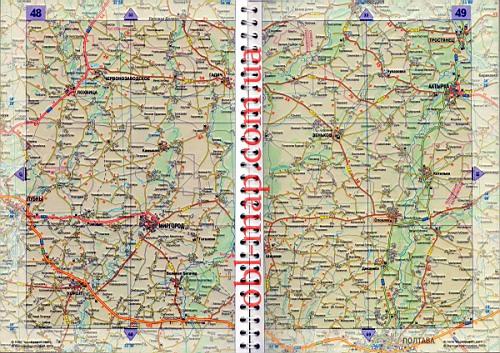 область карта автодорог.