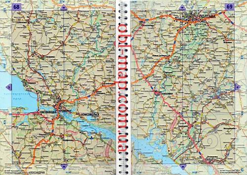 карте автомобильных дорог